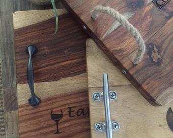 Custom Serving Trays & cheese boards
