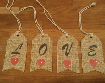 Two Sets of LOVE tags