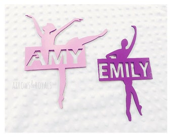 Personalised Ballerina Wall Plaques