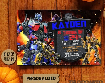 Transformers / Transformers Invitation / Transformers Birthday Invitation / Transformers Birthday / Transformers Birthday Invitation