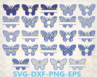 70% OFF, Butterfly Svg, Butterfly Monogram, Monogram Butterfly Cut, Butterfly Cut Files, Dxf, Ai, Eps,Png, Split Butterfly svg, Silhouette