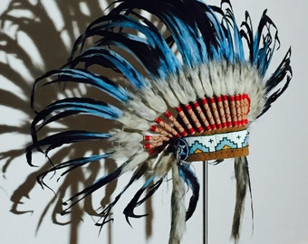 Spring Indian feather headdress Warbonnet Panel