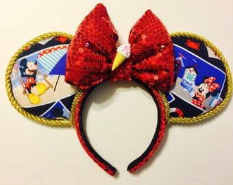 Mickey and Minnie Mouse - Summer Fun ears