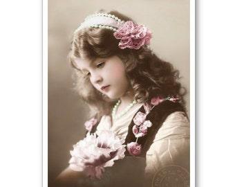 Personalised Handmade Greetings Card ~ Vintage Postcard of A Child  #22