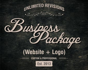 Full Website Package, Full Branding Package, Logo and Website, Custom Logo Design, Custom Website Design, Wordpress Website