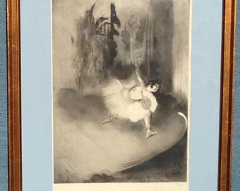 Theatrical 19th.nineteenth century Ballet Lithograph by Louis Legrande