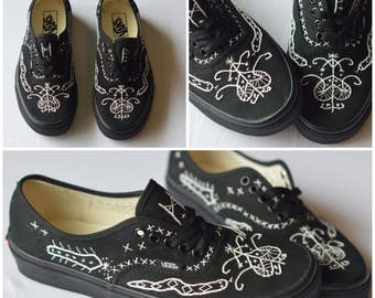 Custom Embroidered Vans Shoes