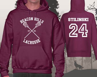 Teen Wolf Hoodie Beacon Hills Lacrosse Hoodies STILINSKI 24 Unisex and Mens