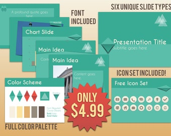 Keynote Presentation Template with Icon Set (Peeled Theme)
