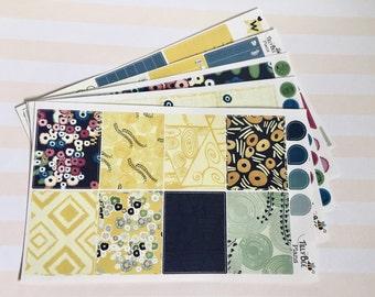 Weekly Sticker Kit - Klimt inspired modern floral // Erin Condren // Happy Planner // Plum Paper // Recollections