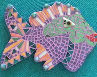 Lavender-Orange Mosaic Fish
