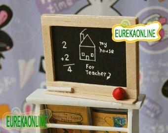 Miniature Blackboard with chalk and eraser