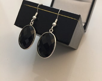Onyx earrings 925 Silver