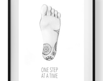 A4 Sketch Print - One Step at a Time