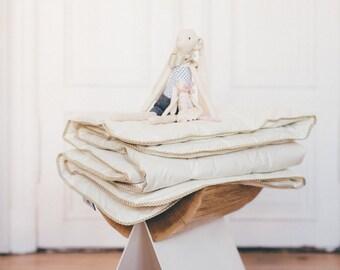 BABY ALPACA COMFORTER - light duvet cover insert filled with alpaca wool, eco friendly bedding, quilt