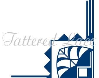Tattered Lace dies,dies , die , stanzen , Tattered Lace Dies - Art Deco Geometric Corner