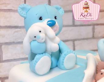 Bear Teddy Teddy bear toy 3D Cake Topper fondant