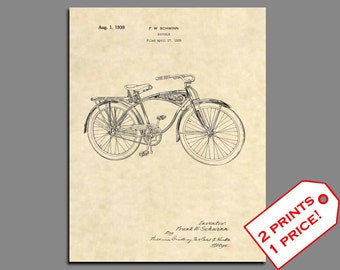 Bicycle Patent - Schwinn Bicycle Patent Prints - Vintage Bicycle Art Posters - Bicycle Wall Art Patent Print - Bicycle Poster Patent Art  25