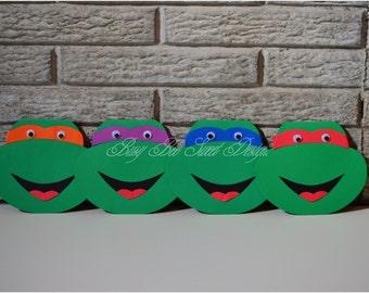 Ninja Turtles Invitations / Raphael-Michelangelo-Leonardo-Raffaello Turtles Invitations / Ninja Turtles Party