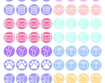 Calendar/Planner Stickers // Erin Condren // Filofax