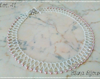 Swarovski pearls and beads necklace