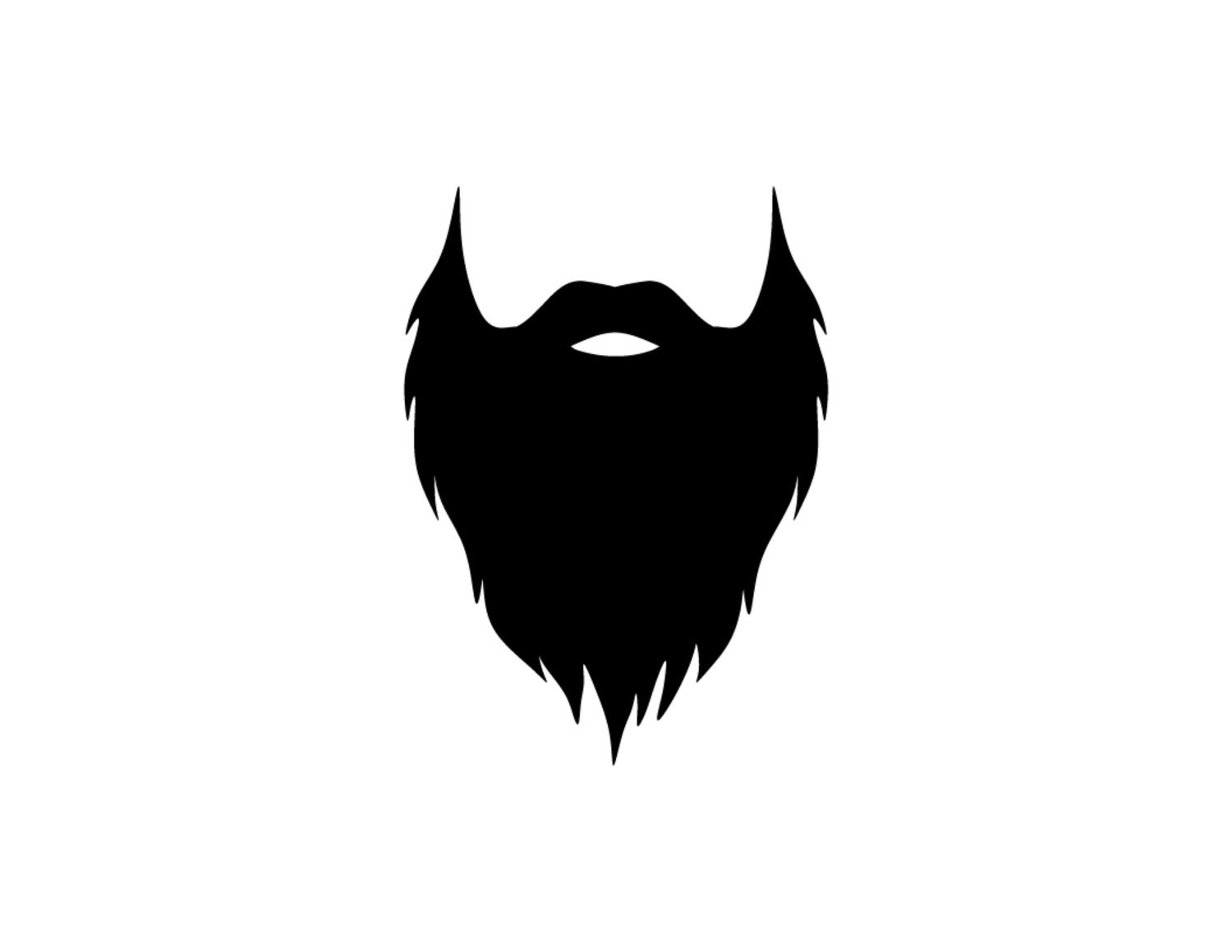 Beard Decal Vinyl Sticker Vinyl Decal Beard Decal Beard