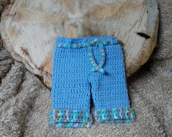 Hand Crochet Photo Prop Pants