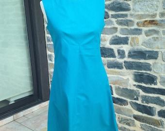 Dress vintage, model 60's very feminine blue color