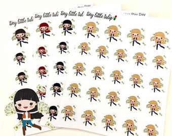 Planner Stickers Doodle Girl Payday Stickers