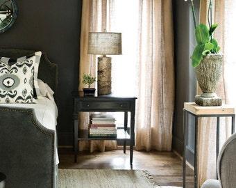 Natural Burlap/ curtains/ jute/ hessian/ home decor 1 panel