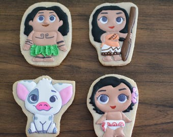 Moana Inspired Cookies