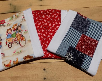 Set of 3 Country Burp Cloths - Baby Shower Gift