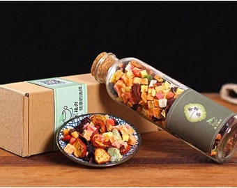 Dried Mixed Fruit in Glass Bottle