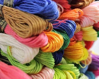 100 Skeins Assorted Colors Embroidery Floss
