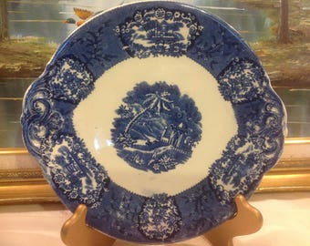 Antique Platter / Cake Plate by Franz Anton Mehlem