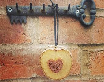 Copper Heart - Wooden slice