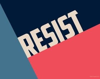 """Printable, downloadable digital 8.5x11 """"Resist"""" poster"""