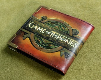 Leather Wallet, Mens gift, Mens Wallet, Game of Thrones, A Lannister Always Pays His Debts, A Song of Ice and Fire, House Lannister