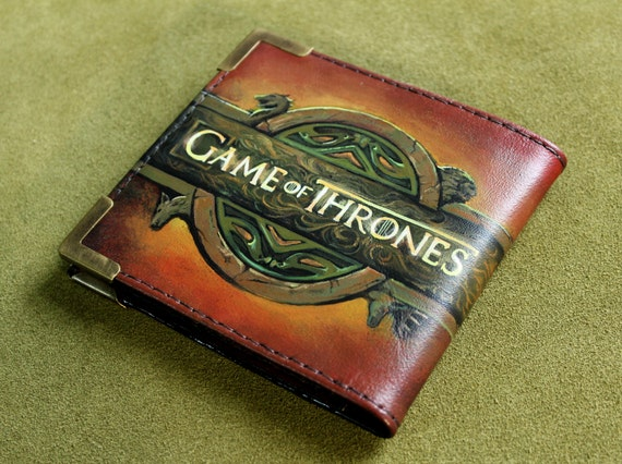 Leather wallet mens gift mens wallet game of thrones a for Game of thrones gifts for men