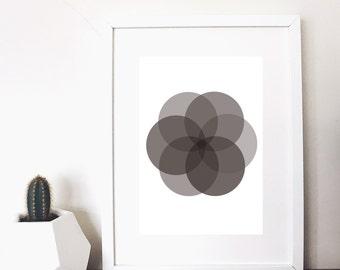 monochrome circles print