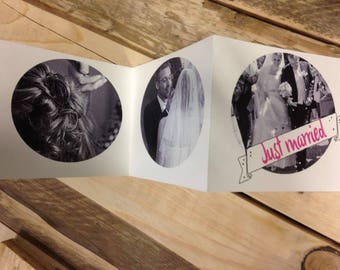 Leporello wedding, memory, just married, love, wedding, Faltalbum, thank you, Pocket album, wedding photos, wedding album, photo album