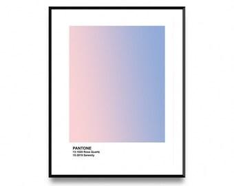 Pantone wall art, Pantone 2017, Pantone poster, Pantone print, Color Swatch, Wall Art Print with Instant Printable Digital Download