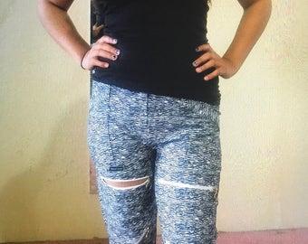 maaroj D Design Print Zipper Joggers for Women