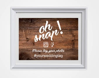 Wedding Picture Sign, Country Wedding, Rustic Wedding, Rustic Wedding Sign, Social Media Sign, Wedding Sign, Wedding Decor