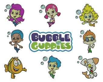 9 Bubble Guppies Embroidery Design - 4 SIZES