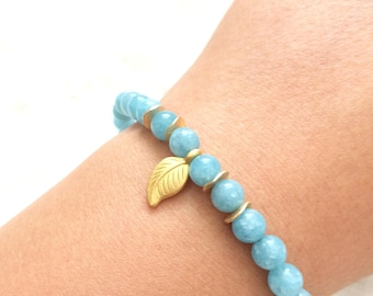 Aquamarine Handmade Beaded Bracelet