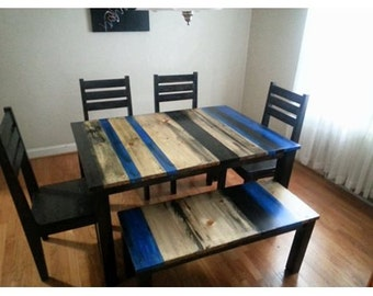 Rustic Distressed Dining Set / distressed dining table