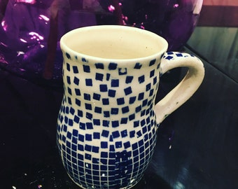 Beautiful handmade, wheel thrown pottery ceramic mug!!!