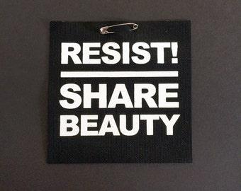 RESIST Screenprinted Punk Patch - Share Beauty