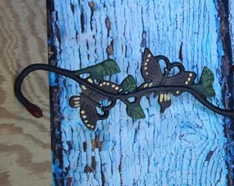 """Cast iron Butterfly hanger 12"""" H x 4.5"""" W"""
